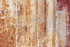 与富有和各种各样的纹理的生锈的金属表面 库存照片