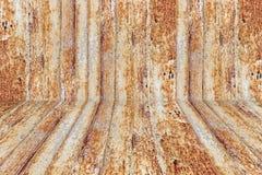 与富有和各种各样的纹理透视的生锈的金属表面 库存图片