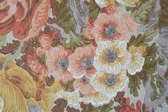 花卉维多利亚女王时代的装饰墙壁油漆 免版税库存图片