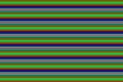 与对比背景的薄荷的蓝色条纹的水平的霓虹绿线 库存照片