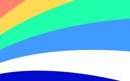 与对角条纹的蓝色和绿松石背景 水平 库存例证