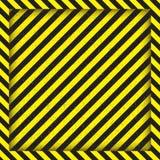 与对角黑和黄色条纹的抽象几何线 方形的框架 也corel凹道例证向量 库存照片
