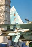 与导弹武器的战斗机 免版税库存图片
