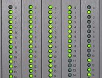 与导致的光绿色的面板 库存图片