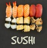 与寿司盘的午餐 免版税库存照片