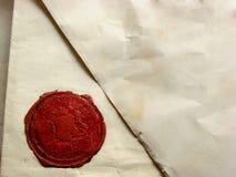 与封印的信件 免版税图库摄影