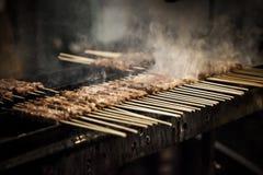 与小串的烤肉 免版税图库摄影