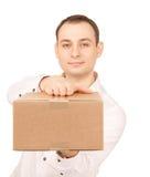 与小包的商人 免版税库存照片