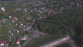 与小山和湖的斯塔夫罗波尔风景 俄国 股票视频