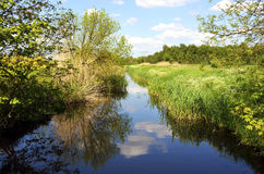 与小河的风景 图库摄影