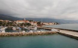 与小游艇船坞的Orebic克罗地亚 库存图片