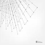 与小点和线的抽象背景 图库摄影