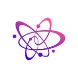 与小点的抽象原子道路例证 主题的化学制品 皇族释放例证