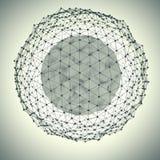 与小点的抽象球形 免版税库存照片