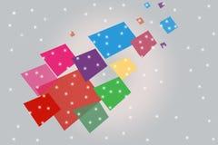 与小点的multicolr正方形,抽象背景 免版税库存图片