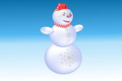 与小珠的雪人 免版税库存图片