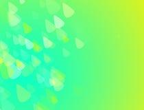 与小的三角的绿色和黄色抽象背景 图库摄影