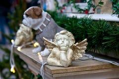 与小的图的圣诞节或新年构成 免版税库存图片