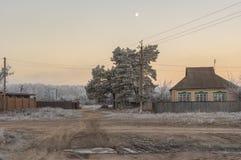 与小的早晨风景在Sumskaya oblast,乌克兰 库存照片