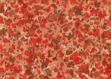 与小的红色花的抽象样式 免版税库存图片