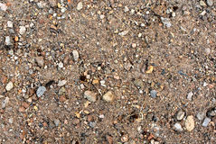 与小石头18的土表面 图库摄影