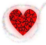 与小精灵尘土的爱心脏 向量例证