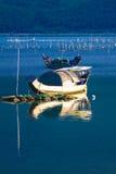 与小船的风景 库存照片