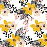 与小花的典雅的无缝的样式 库存例证