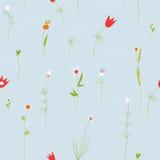 与小花的花卉淡色无缝的样式 免版税库存照片