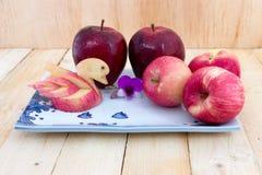 与小滴的美丽的苹果 库存照片