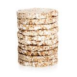 与少量卡路里的Galette米节食,低热值面包 免版税库存照片
