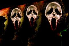 与尖叫的面具的恶梦 库存照片