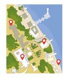 与尖的地图海和公园风景的 也corel凹道例证向量 向量例证