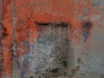 与尘土和土灰色旧布的红色抽象背景  库存照片