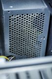 与尘土的开放计算机电源单位 图库摄影