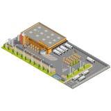 与就座的仓库工业区装载的 皇族释放例证