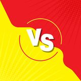 与屏幕比较 战斗背景互相反对,染黄反对红色 对在减速火箭的样式,流行艺术,葡萄酒 对漫画 皇族释放例证