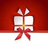 与屏蔽效应的礼物盒形状 免版税图库摄影