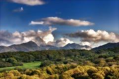 与山和树的风景 库存图片
