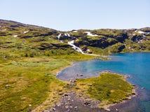 与山湖,挪威的风景 免版税库存图片
