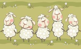 与山羊的绿色边界 图库摄影