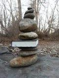 与岩石的一本书 免版税库存图片