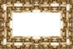 与工业转弯的边界框架 库存照片
