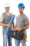 与工程师人的运动承包商 免版税库存照片