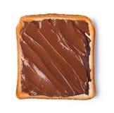 与巧克力奶油的多士 免版税库存照片