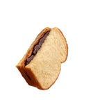 与巧克力奶油的面包 免版税库存照片