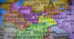 与巴基斯坦国家地区地图的地球 影视素材