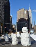 与帝国大厦, NYC的曼哈顿地平线 免版税库存图片