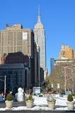 与帝国大厦, NYC的曼哈顿地平线 库存图片