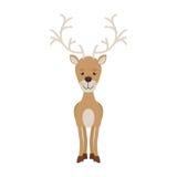 与常设驯鹿的剪影颜色 免版税库存图片